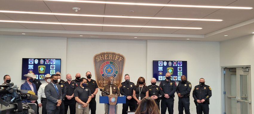 Fort Bend County law enforcement leaders gathered en-masse Monday afternoon to assure residents that they would be prepared for any civil unrest that may happen on Inauguration Day.