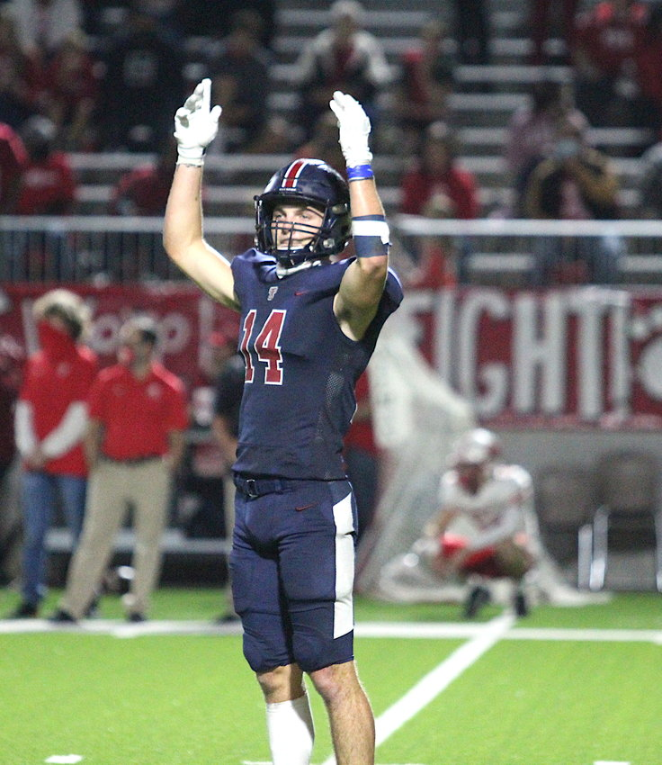 Tompkins senior safety Colby Huerter was one of three players from Katy ISD named to the Class 6A all-state first team on Friday, Feb. 26.
