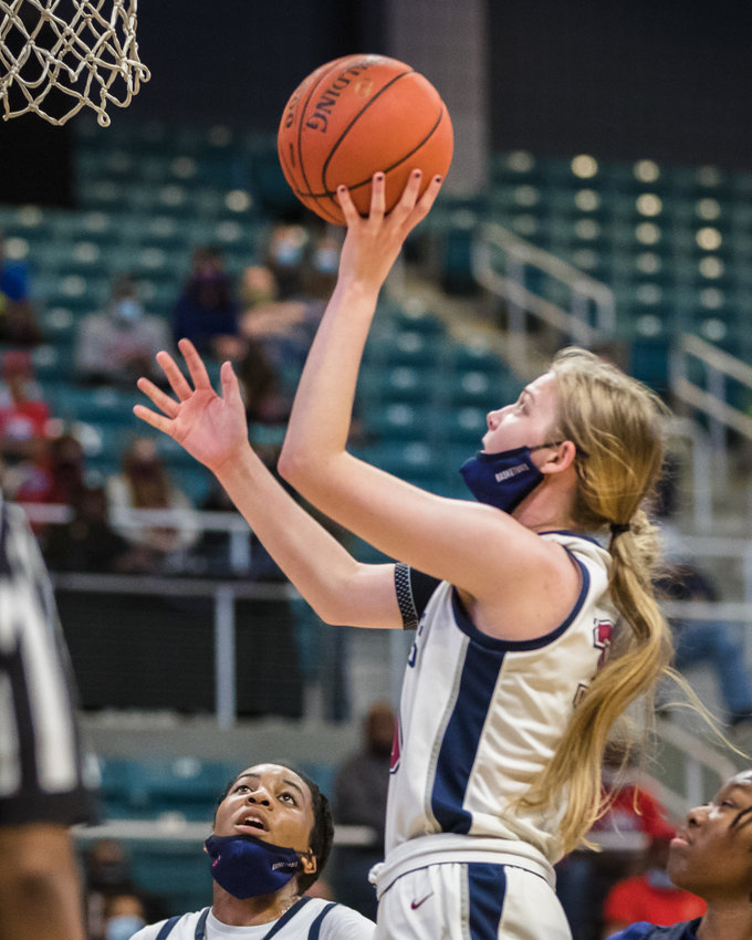 Tompkins senior forward Kenzie Durnford is one of two seniors who helped change the culture for the better for the Falcons, who won 49 games over the last two seasons, back-to-back undefeated district championships, and made the regional semifinals this season for the first time since 2016.