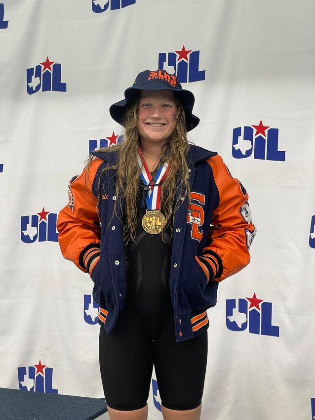 Seven Lakes senior Maddie Welborn was the only Katy ISD swimmer to medal at the UIL state swimming and diving championships in San Antonio, earning a bronze in the 200-yard freestyle and a fourth-place finish in the 100-yard freestyle.