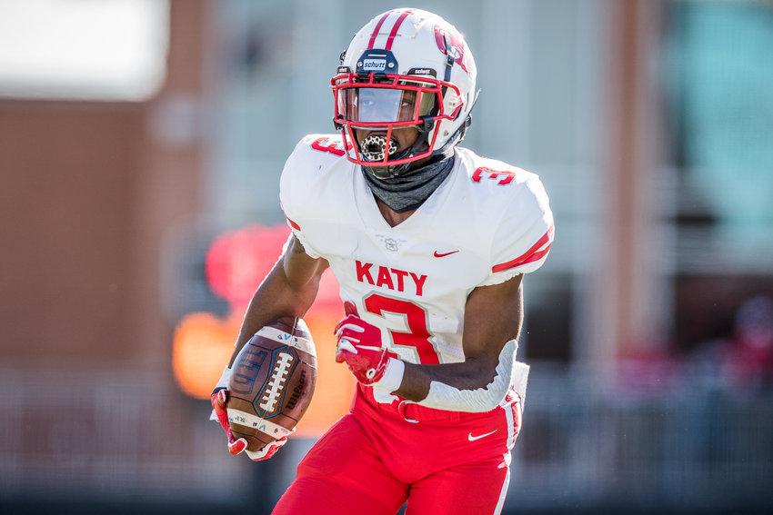 Katy High junior defensive back Bobby Taylor.