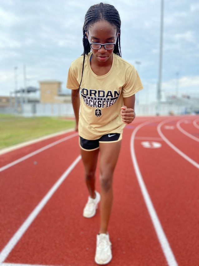 Jordan sophomore Tiyan Ogbeide is the track and field program's first state qualifier. She will compete in the 800-meter run at the Class 5A state meet on Friday, May 7, in Austin.