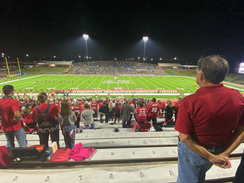 A pregame shot prior to a game at Rhodes Stadium last season.