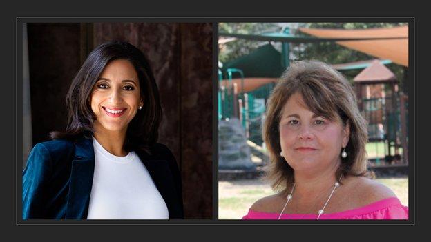 拉尼娅·曼卡利(左)是休斯敦犯罪阻止组织的首席执行官。莫林·莫拉克(右)是大卫遗产基金会(David's; Legacy Foundation)的联合创始人,这是一个致力于消除网络和其他欺凌的非营利倡导组织。