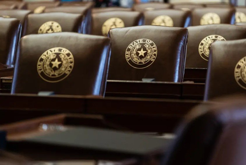 """Chairs in the House Chamber at the Texas Capitol on June 21, 2021. Abbott's office did not specify what legislative priorities will be included on the special session agenda and said in an advisory that such items """"will be announced prior to the convening of the special session."""""""