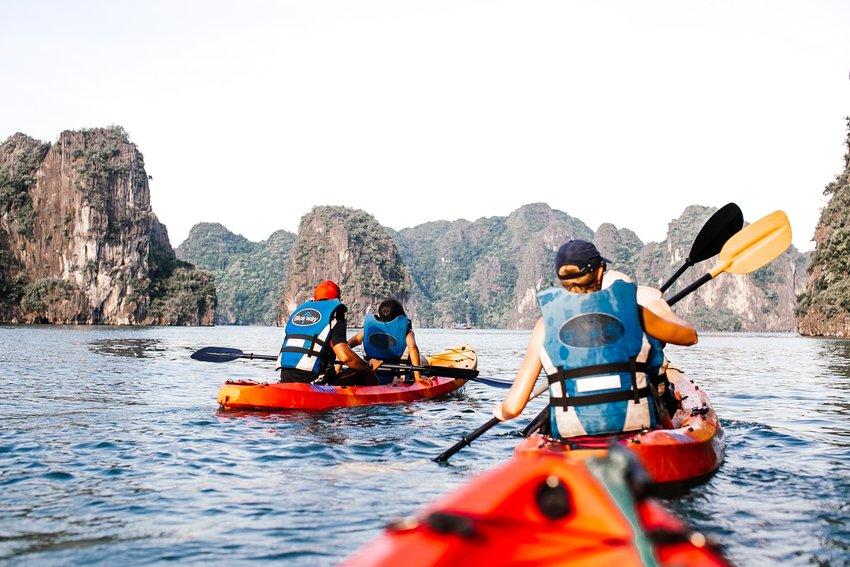 皮划艇可以是一个伟大的冒险夫妇-如果有时幽默的冒险。。。