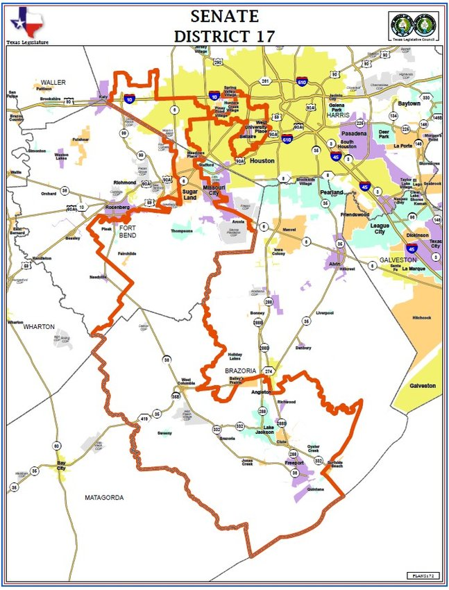 Partisan districting efforts combined with attempts to balance population numbers in Texas congressional districts have led to oddly shaped districts such as State Senator Joan Huffman's (R-Houston) 17th district which is vaguely shaped like an upside-down question mark. The combination also leads to accusations of gerrymandering – the practice of setting districts up to intentionally favor one party or to exclude voting blocs by examining voting patterns such as those of minorities.