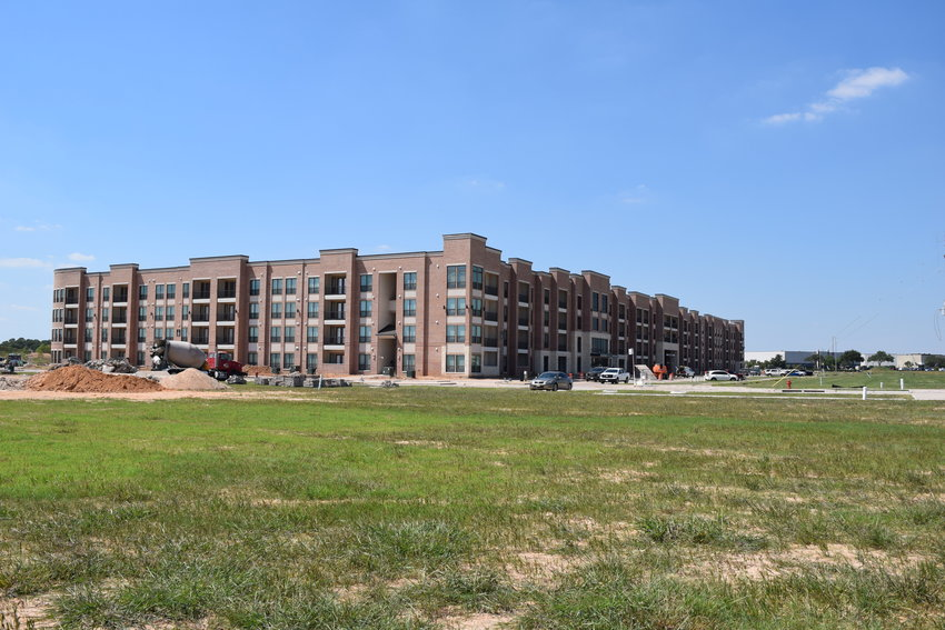 Crews are busy working on the Katy Boardwalk District, a public-private venture that will include a four-star hotel and about 90 acres of parkland just south of Katy Mills.