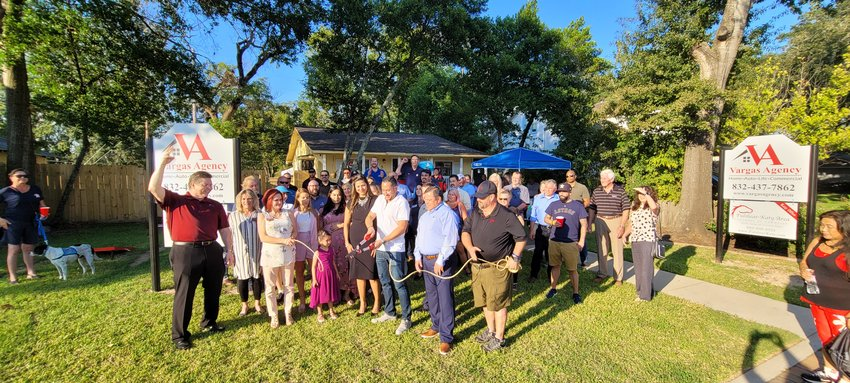 The Vargas Agency celebrated its two-year anniversary with a rope cutting set up through the Fulshear Katy Area Chamber of Commerce.