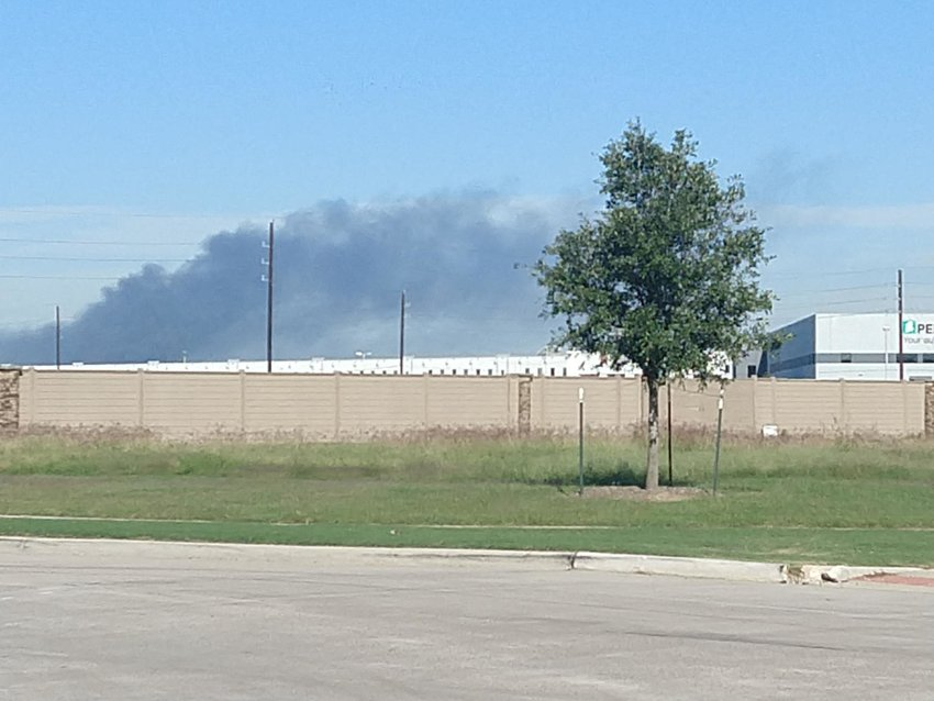 Smoke was easily visible from a long distance away after a dual-engine aircraft failed to take off at about 10 a.m. Tuesday morning.