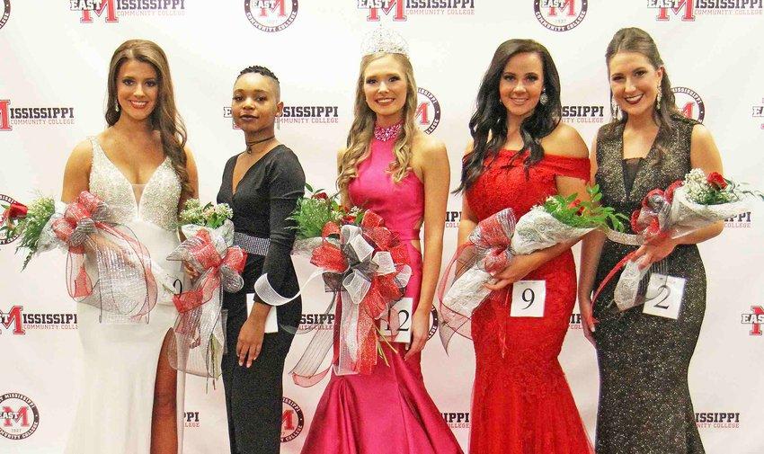 Beauties included (from left) Haley Evans of Winona, Tally Hunter of Columbus, Rogers, Morgan Massa of Ellerslie, Ga., and Lexi Merrick of DeKalb.