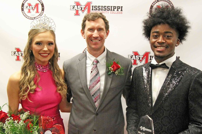 Rogers and Kingare shown with EMCC President Dr. Scott Alsobrooks.