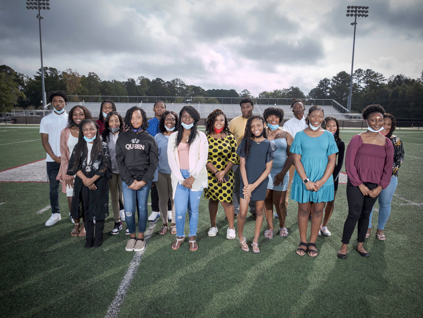 Kemper County High School will celebrate Homecoming this Friday night during the school's football game with Morton. Members of the Homecoming Court are, front row from left, Genesis Hopson, Sharia Nunn, R'Daisha Naylor, Orlandrea Houston, Erryon Hall, Kyla Grace' second row from left, Brekayla Grace, Ro'tagun Hopson, Kayla Hearn, Prenqualia Adams, Nicaya Baylor, Chantel Stringfellow; third row from left; James Granger, Jordan Little, Qavion McClendon, Thermon Johnson and Michael Brandon. Kemper County plays its home games at East Mississippi Community College in Scooba.