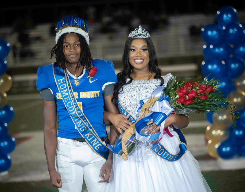 Jordan Little, left, amd Nicaya Baylor were named the Homecoming king and queen, respectively, at Kemper County High School's homecoming Friday night.