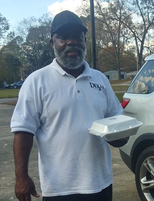 Mayor Clark Adams and the Zeta Phi Beta Sorority handed out Thanksgiving lunch plates this past Saturday to some of the senior citizens around DeKalb.