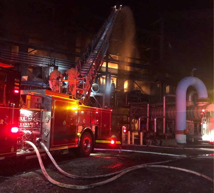 There was a massive fire at the Kemper County coal plant this morning, Philadelphia Fire Chief Pierce Clark confirmed.