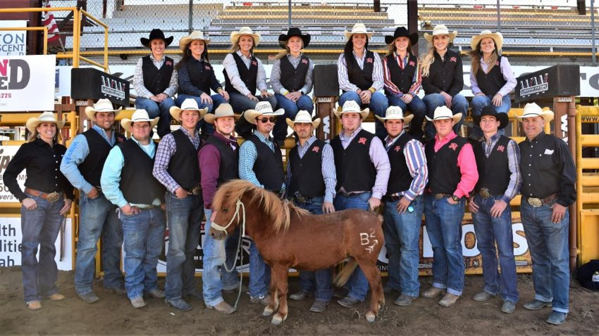 The East Mississippi Community College rodeo team before they hosted the Annual Intercollegiate Rodeo earlier this season in Meridian.