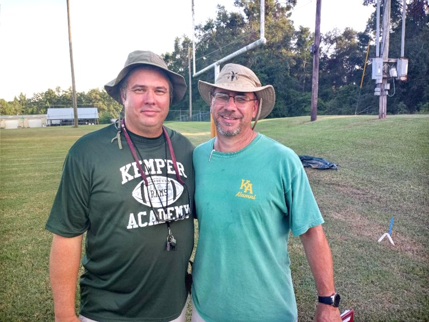 Kemper Academy coach Michael Dawkins, left , is pictured with his longtime friend Chris Gully.