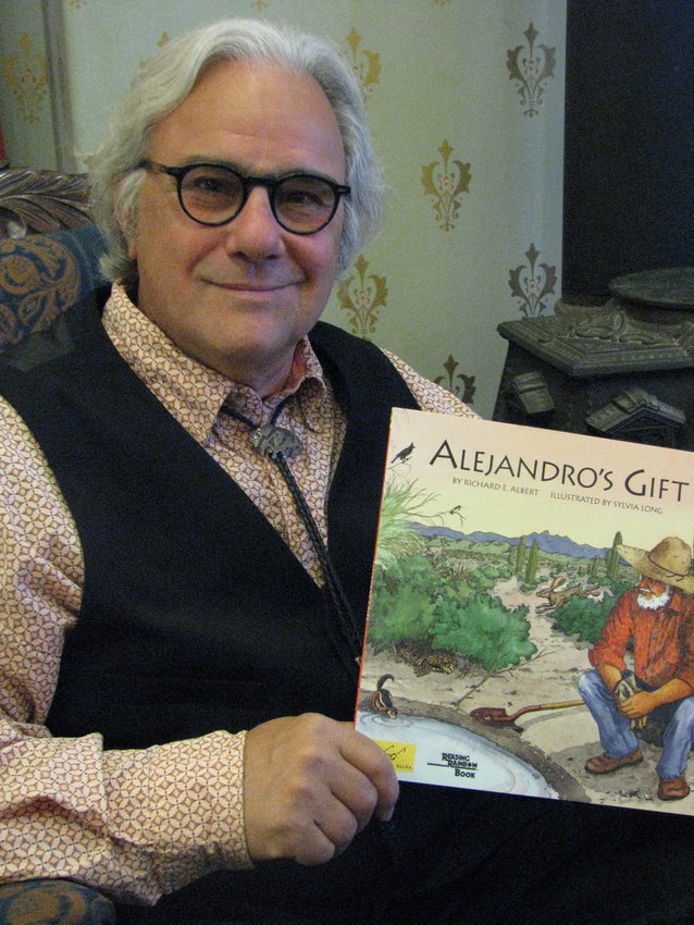 """Silver City Museum director Bart Roselli will read the children's book """"Alejandro's Gift"""" by Richard Albert at 7 p.m. Sunday via Zoom."""