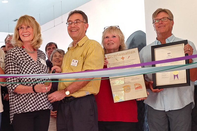 From left in a photo from the 2017 grand opening of the Doña Ana Arts Council's Arts and Cultural Center in Bulletin Plaza are Barbara Reasoner, Michael Mandel, DAAC volunteer Dotty Magda and Dan Lere.