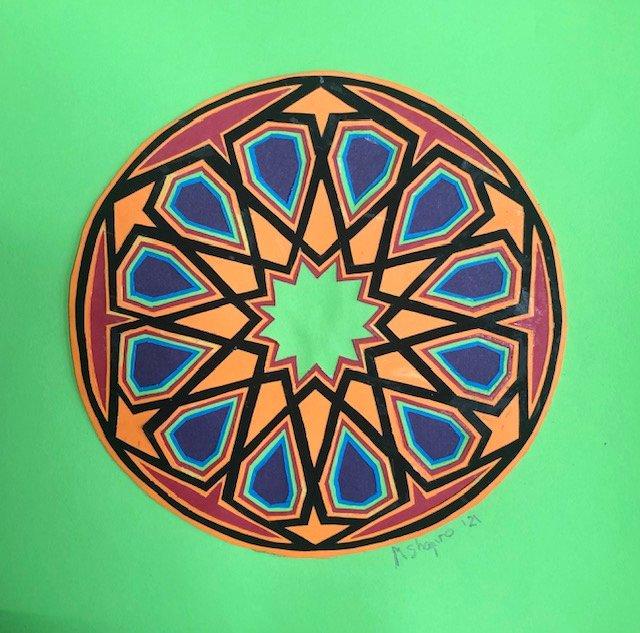 Islamic geometric papercutting