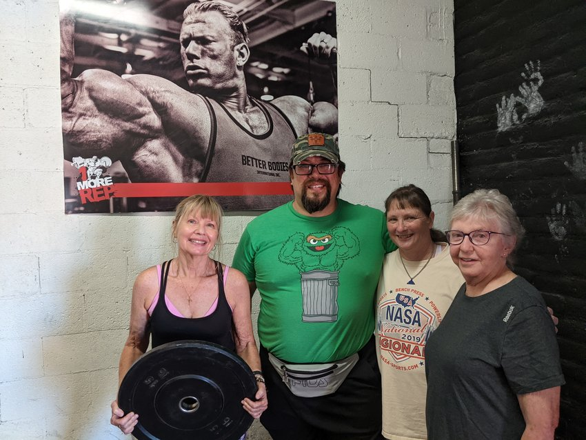 From left, Roberta Stathis, Rich Kahle, Felicia Hale and Storm Sermay at 1 More Rep Gym.