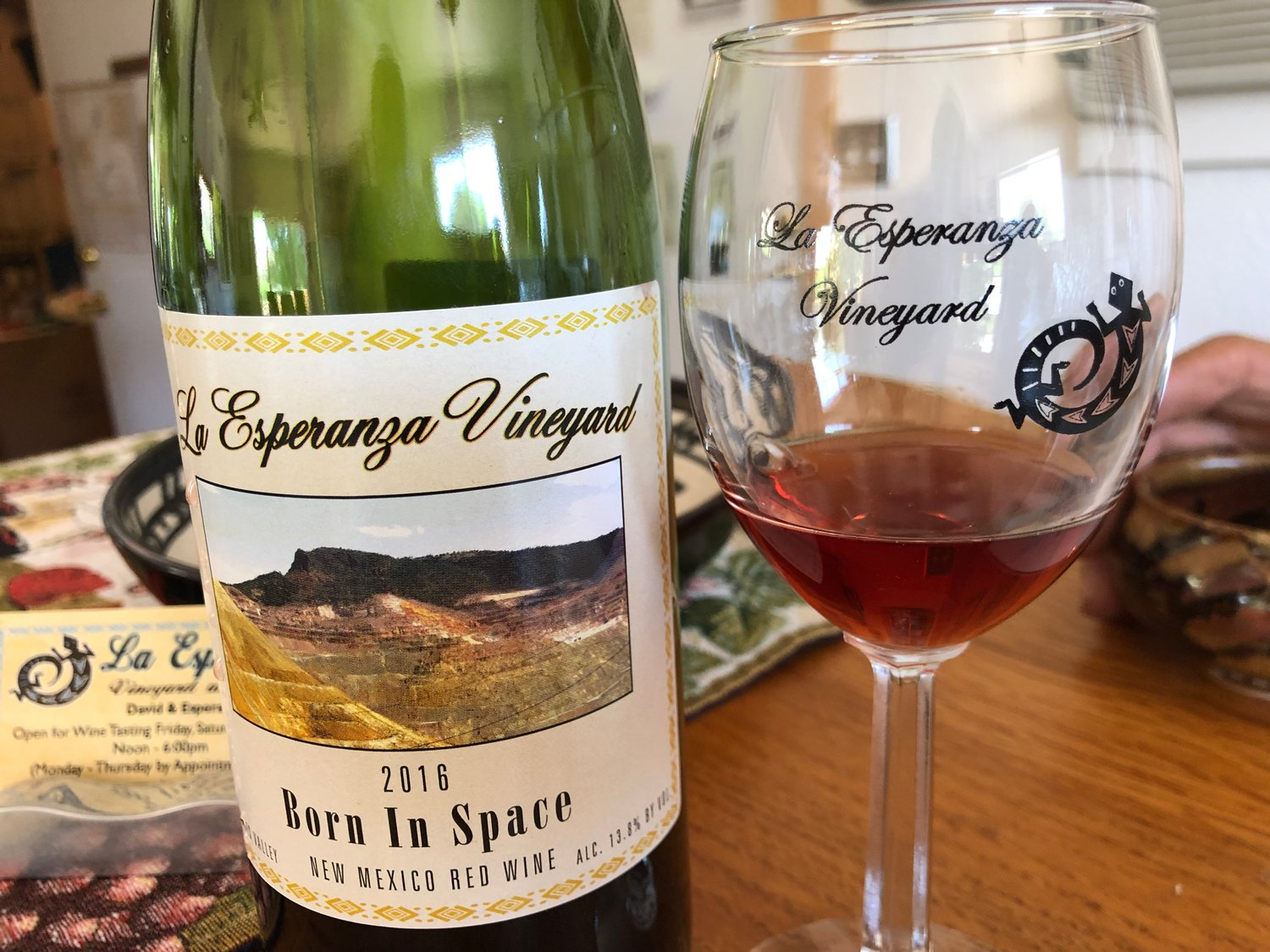 La Esperanza signature wine, blending several grape varieties, Born in Space, is named for Esperanza 
