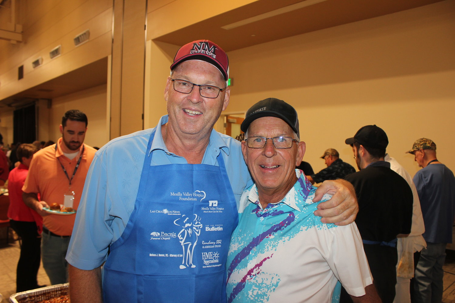 Men Who Cook Mike Tourtillott and Rick Jackson created two chili dishes for the event.