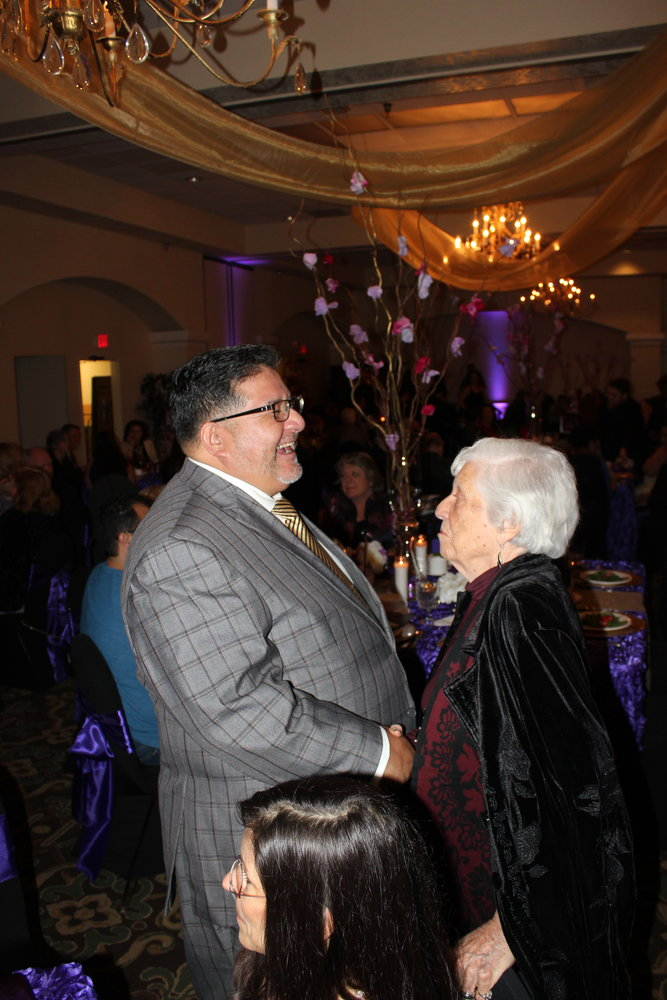 Lorenzo Alba with Barbara Hubbard at the 2019 Hispanic Chamber of Commerce Banquet.