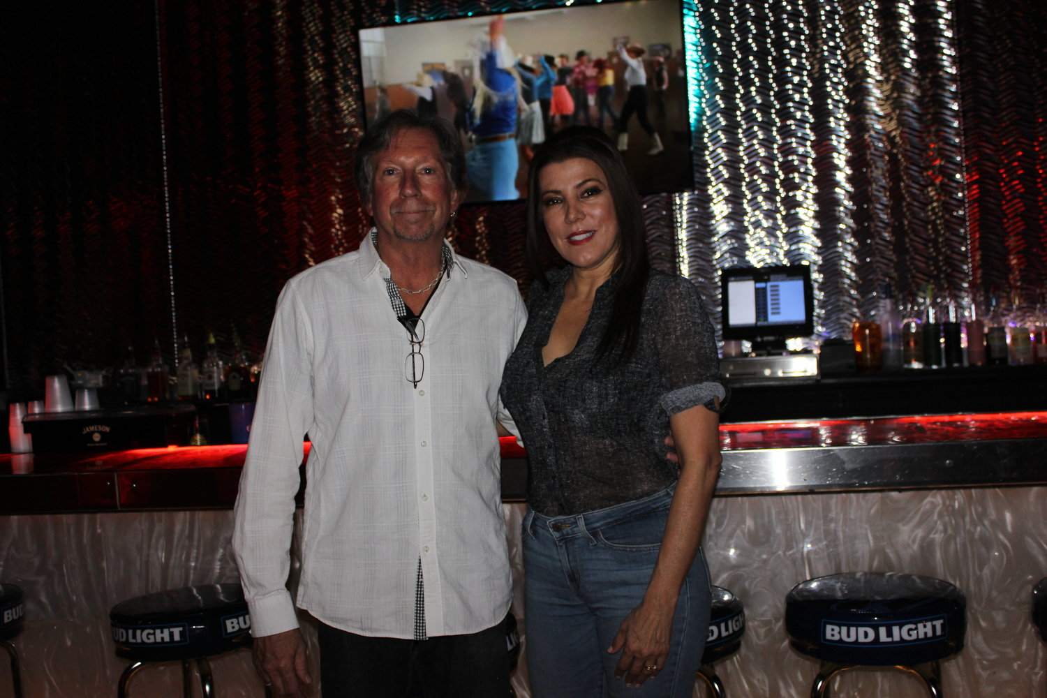 Ramada Palms General Manager Keith Martin and Club 30 manager Laurie Freilino.
