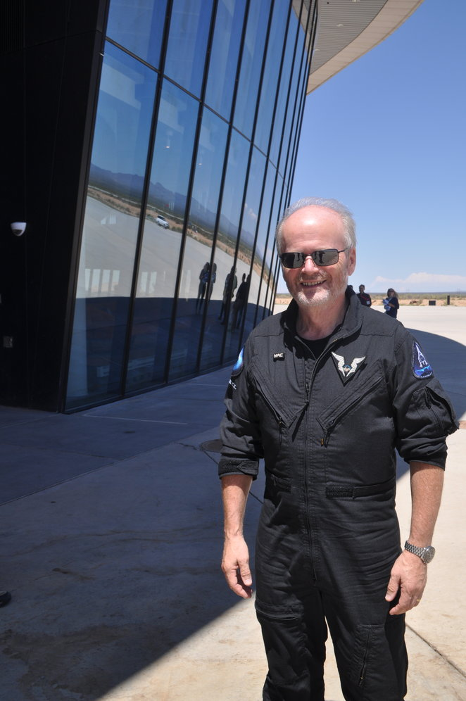 Virgin Galactic's chief pilot, Dave Mackay, said future astronauts will train for three days and then take to space in a journey of about 2 ½ hours which includes an experience of multiple g-forces, zero gravity and spectacular views.