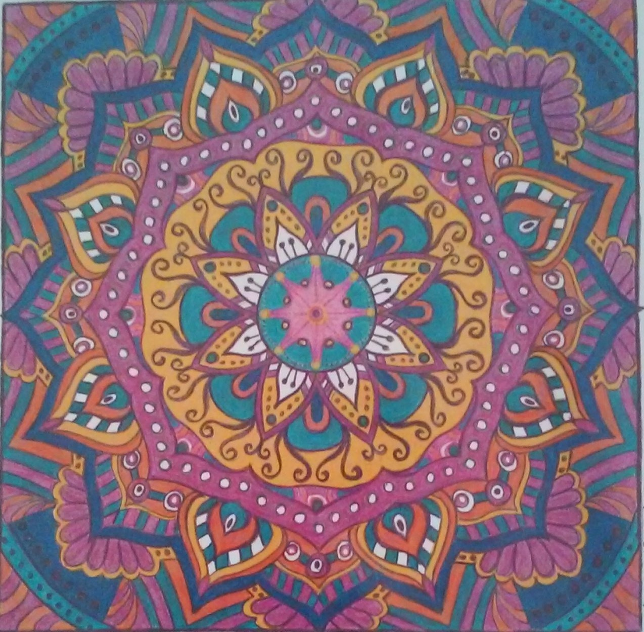 Visit Vicky Avery demonstrating the creation of mandalas at the Las Cruces Arts Association show at Cruces Creatives on Sept. 15.