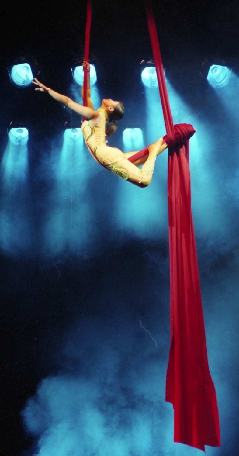 The Cirque Mei Chinese acrobats take their lighter-than-air action to Silver City's WNMU Fine Arts Center Theatre on Sept. 28.