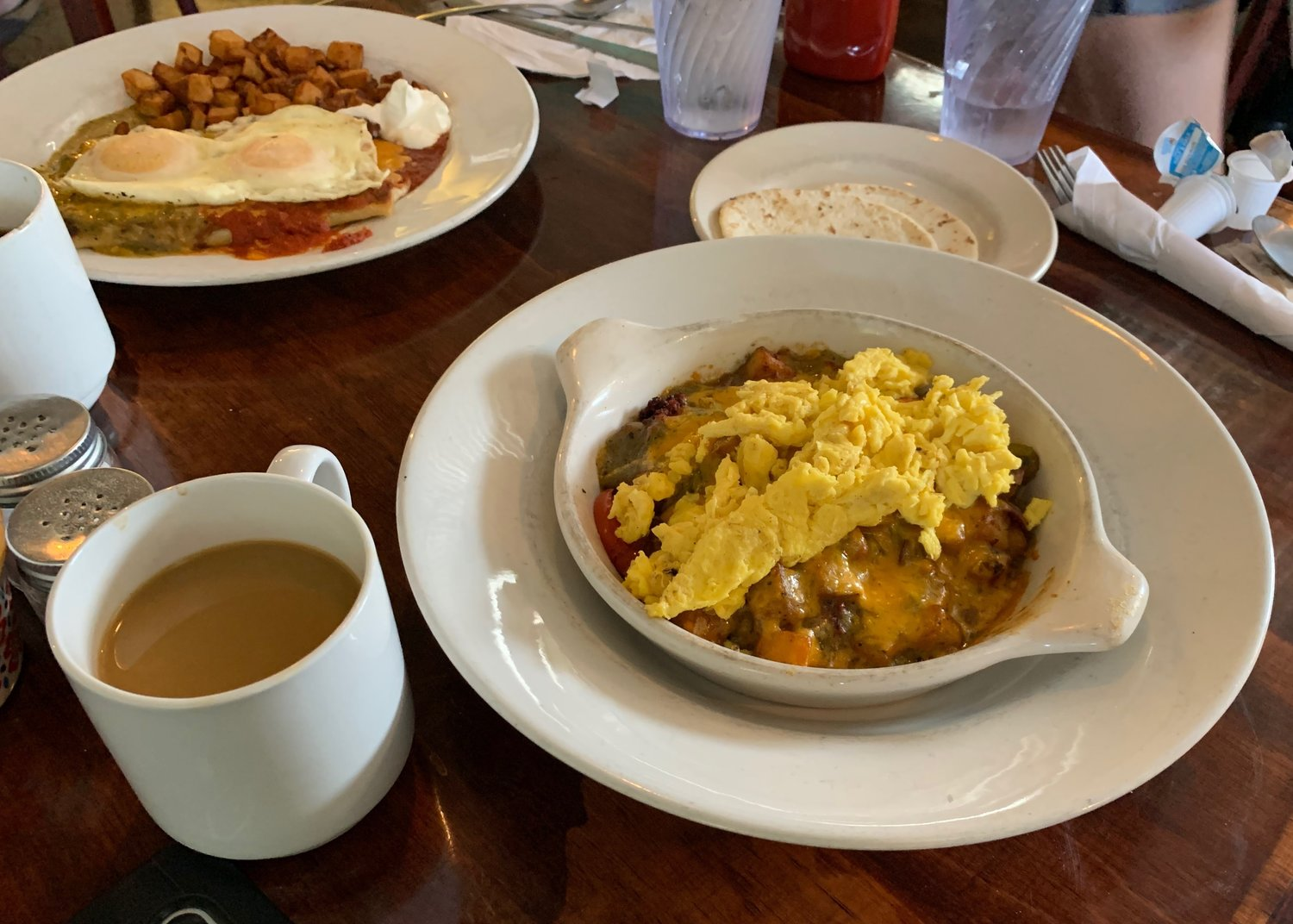 The Southwest Breakfast Bowl ($10.50) with scrambled eggs.