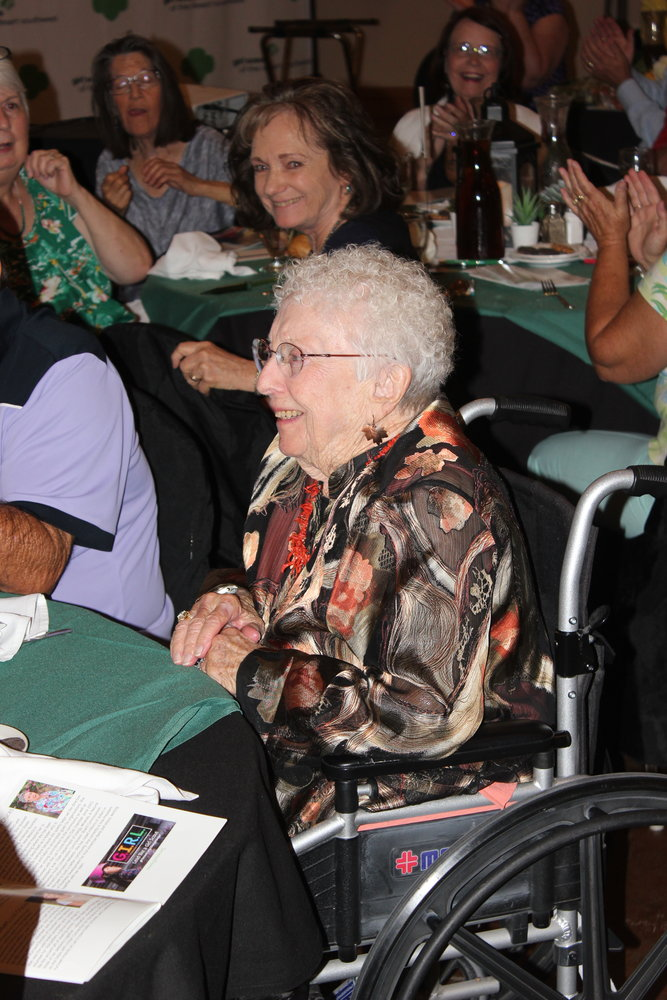 Virginia Brilliant, 100 years old, was a Girl Scout troop leader and mother of Women of Distinction recipient Kay Brilliant.