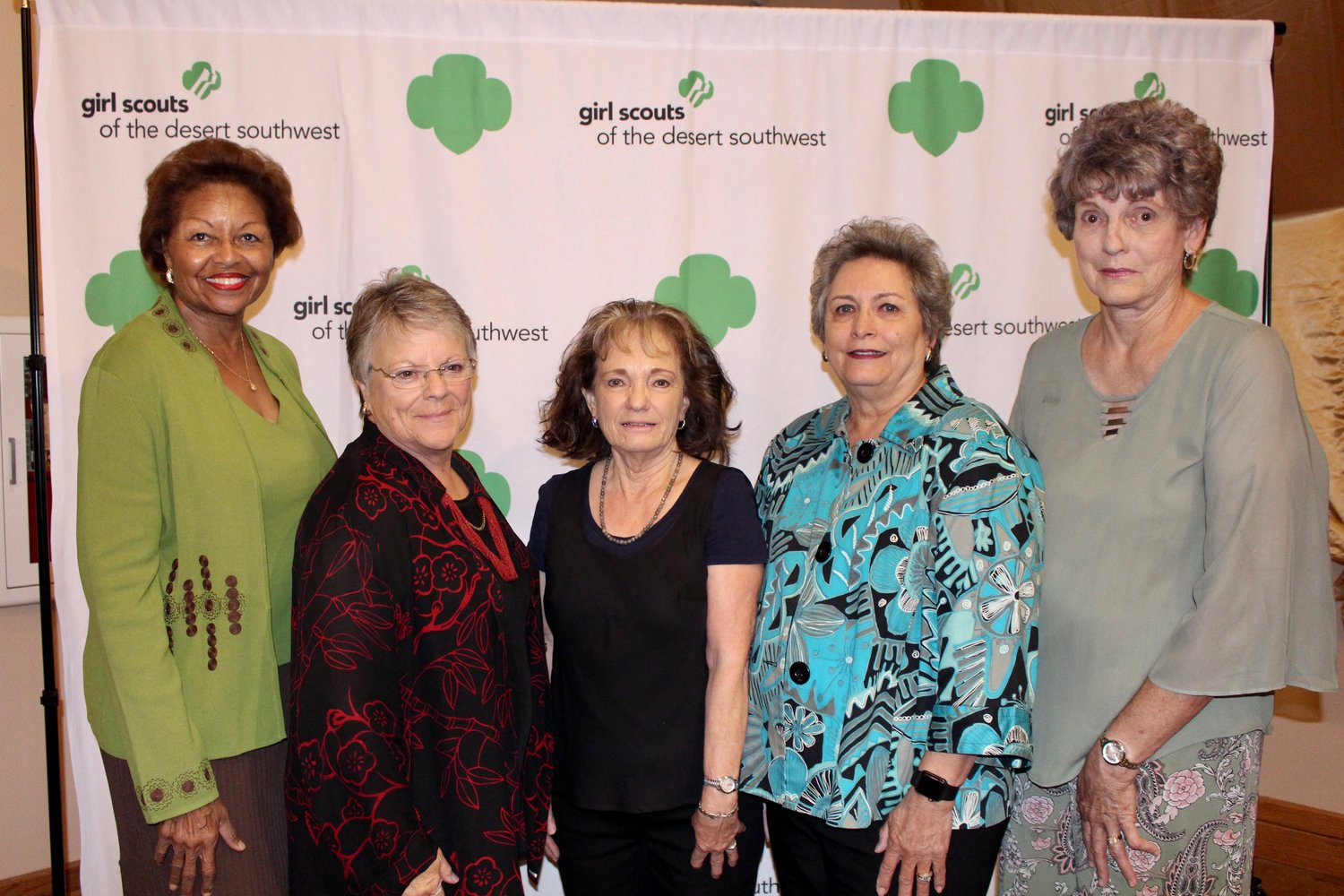 This year's Women of Distinction, selected by the Girl Scouts of the Desert Southwest, are Julia Brown, Kay Brilliant, Jean Gilbert, Ana Mangino and Mary Lou Brown. They were honored at a luncheon Sept. 17 at the New Mexico Farm & Ranch Heritage Museum.