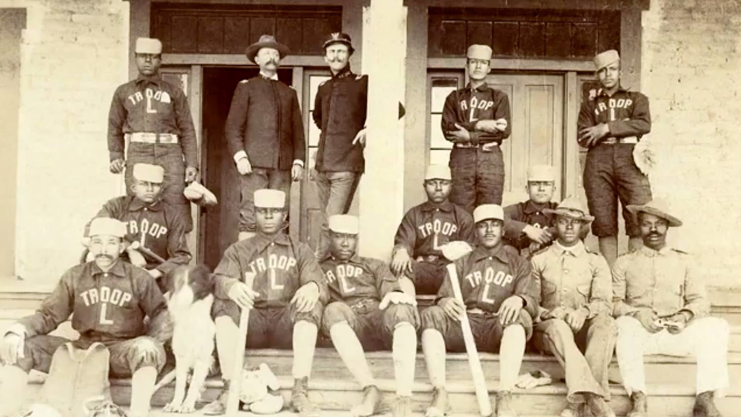 The 10th Cavalry Buffalo Soldiers Team at Fort Bayard in the 1890s.