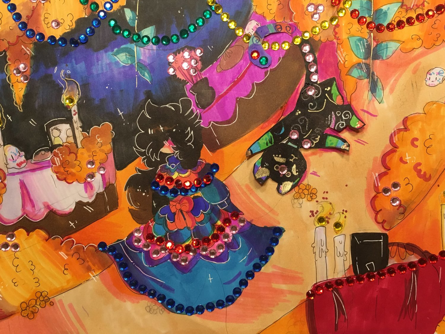 "The winning poster art entry selected by Chickie Beltran is a piece by Micah Jo Huerta, 12, titled ""My Spirit Animal."" It is 9-inches by 12inches and mediums are copic markers, highlighters, jelly roll and Crayola crayons. The poster was inspired by the movie Coco."