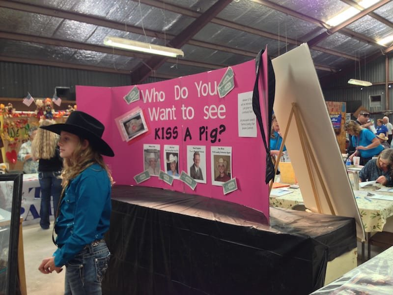 The Kiss a Pig booth and much more can be found at the Sierra County Fair Oct. 2-6.