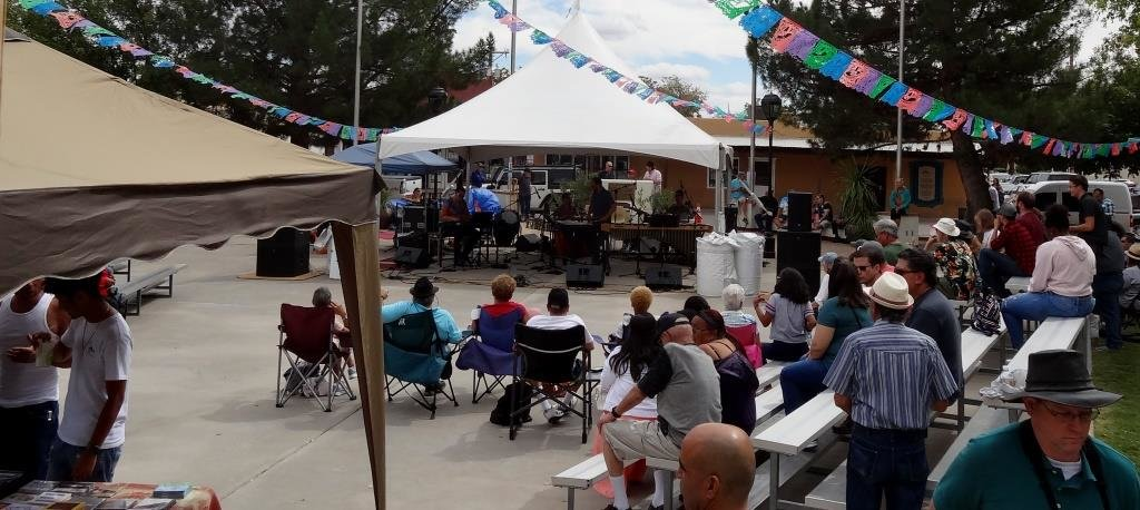 The Plaza is a comfortable setting for enjoying jazz. Some bleacher seating is available, but patrons are advised to bring a blanket or lawn chair.