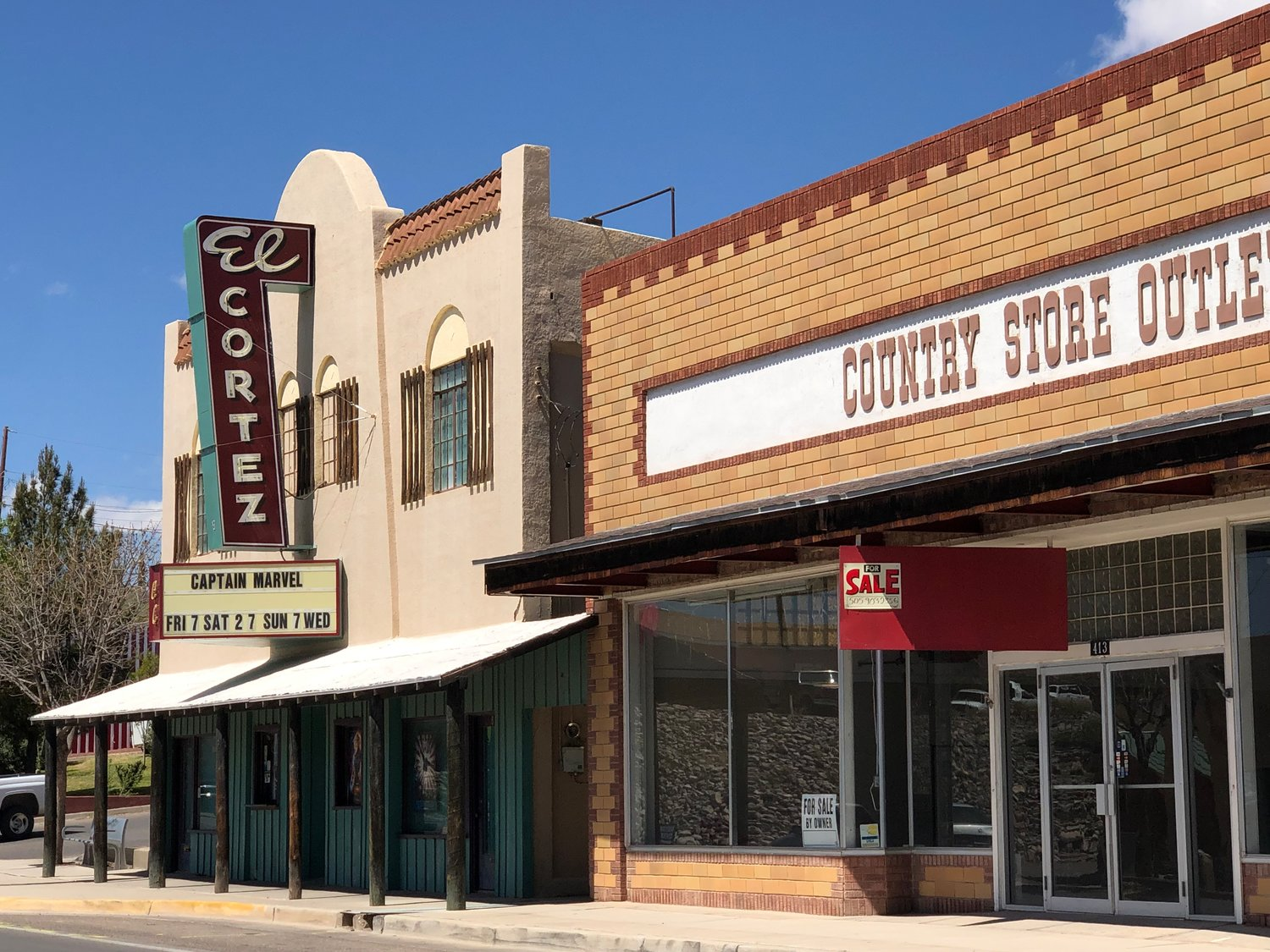 El Cortez Theater in Truth or Consequences was built in 1935 and plays current movies on a weekly basis.