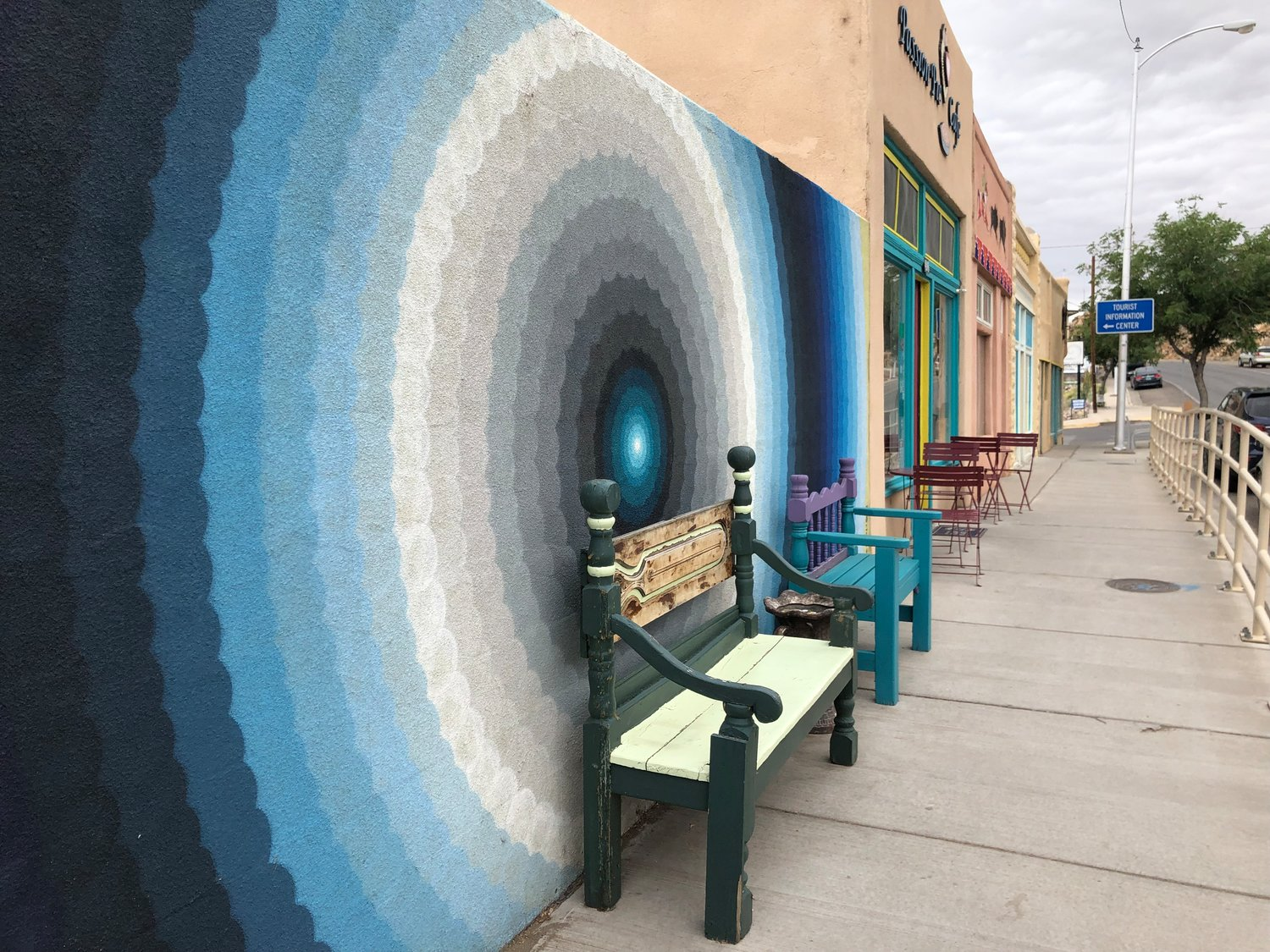 Colorful Main Street in Truth or Consequences will display a variety art exhibits during the Meteoric Film Festival Oct. 18-20.