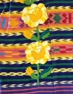 Textile detail from a huipil (blouse) from Xela, Guatemala.