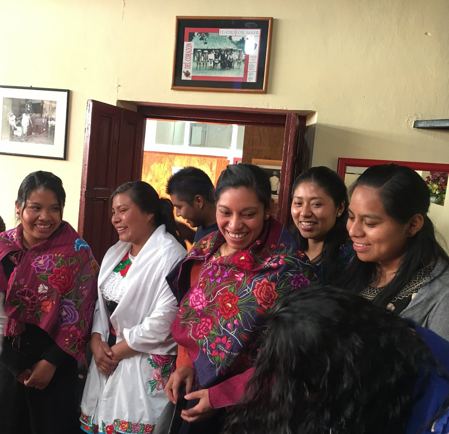 Maya university students in highland Chiapas, Mexico, receive scholarships through the Maya Educational Foundation, where proceeds from the textile sale will go.