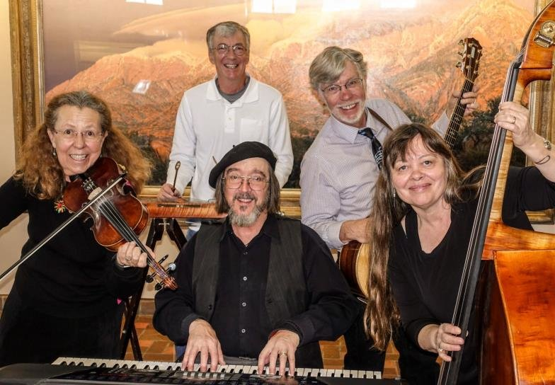 The Cheap Shots play for a contra dance in Mesilla on Nov. 15.
