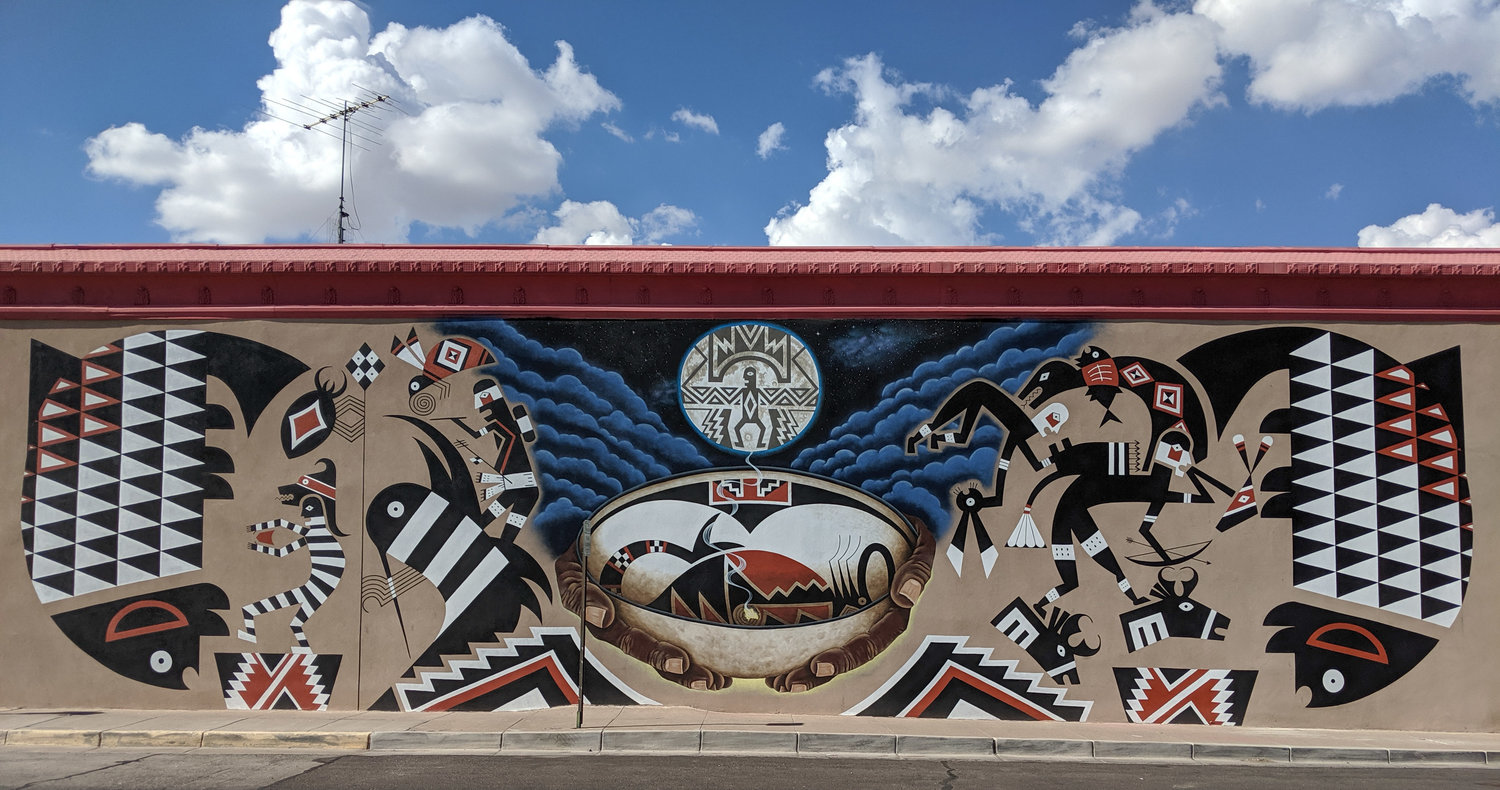 The whole mural located at Pepper's Supermarket, 812 E. Florida St. Deming.