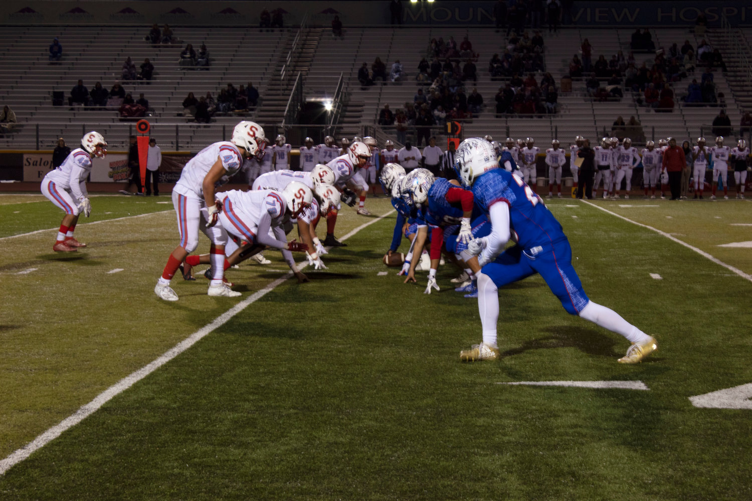 The Las Cruces Bulldawgs had little trouble lining up against Sandia.