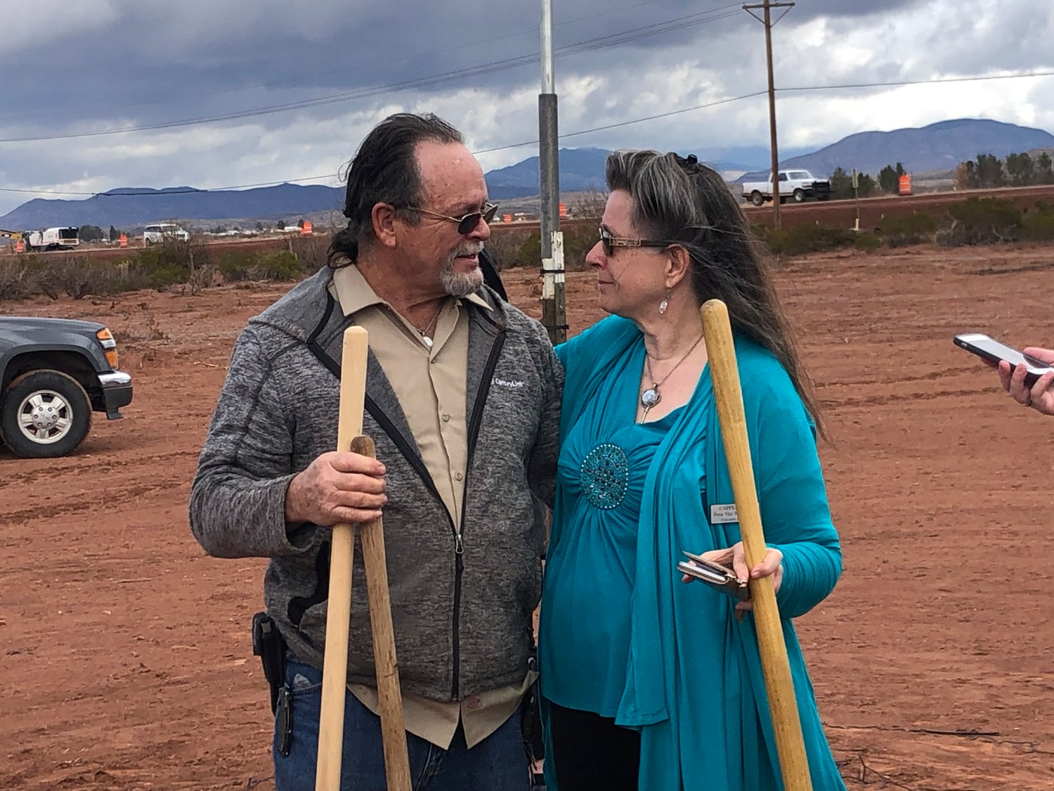 Larry and Tresa VanWinkle take a moment as they get ready to