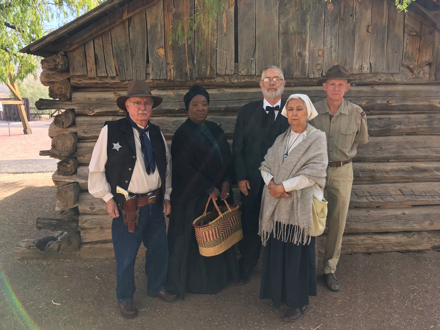 """A Christmas to Remember"" performed theater troupe Bob Distlehorst, Sara Addision, Stan Morgan, Angie Morgan, and Neil Fuller will be at the New Mexico Farm and Ranch Heritage Museum on Dec. 7."
