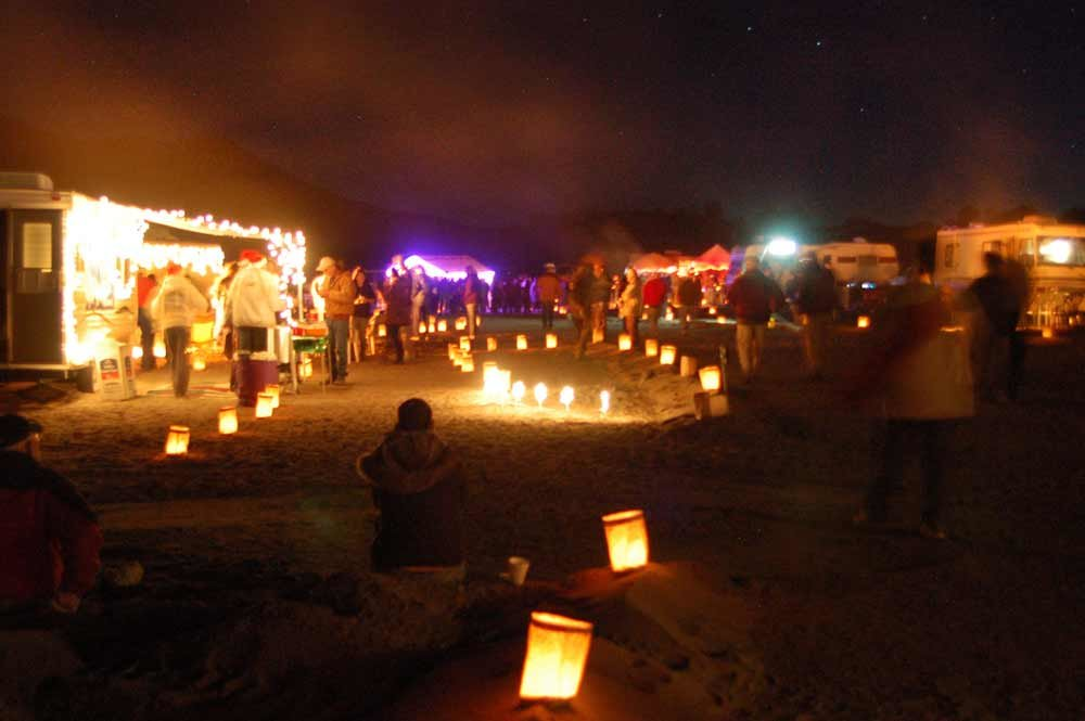 Head to Elephant Butte State Park for a Luminaria Beachwalk that includes posole, chile, cocoa, cookies and beauty on the beach, Dec. 14.